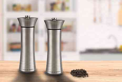 Wowcher Direct - Cole & Mason stainless steel salt and pepper grinders - Save 90%