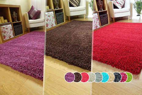 Groundlevel.co.uk - A shaggy rug in one of five sizes - Save 67%