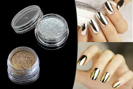 Boni Caro - Gold or silver Magic Mirror nail powder or both - Save 80%