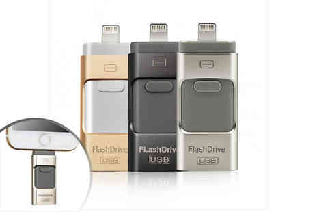 EF Mall - A 16GB iFlash drive for iPhone or iPad a 32GB or a 64GB drive - Save 78%