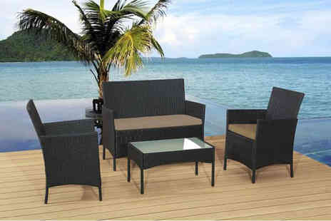 Rattan Trends - A four piece rattan garden sofa set - Save 81%