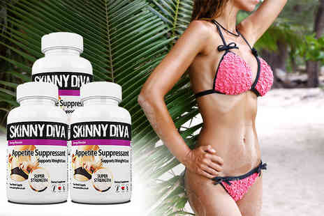 Skinny Diva - A six week supply of appetite suppressant capsules - Save 70%