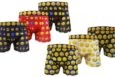 Groupon Goods Global GmbH - Six Pack Smiley Emoji Boxers - Save 0%