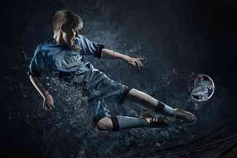 Pop Photography - Fantasy football themed photoshoot for one child including a mug, two keyrings and prints - Save 93%