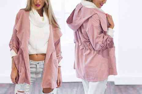 EF Mall - Dusty pink trench coat - Save 80%