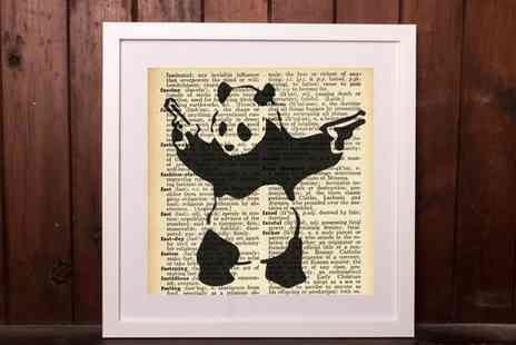 Who art now.- Banksy Dictionary Canvas Print in Choice of Size - Save 0%