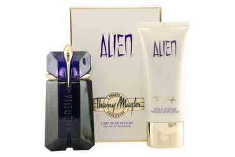 Groupon Goods Global GmbH - 60ml Thierry Mugler Alien EDP Spray and 100ml Body Lotion With Free Delivery - Save 0%