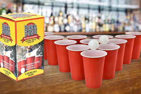 Shop Monk - 14 Piece Beer Pong Set - Save 0%
