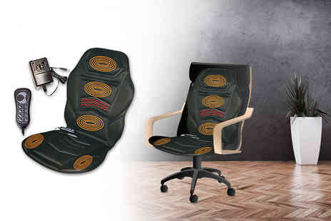 DIRECT2PUBLIK - A heated massage cushion and remote - Save 71%