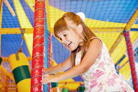 Funsters Fun Factory - Trampoline Park Access and Unlimited Soft Play with Optional Kids Meal for Two - Save 50%