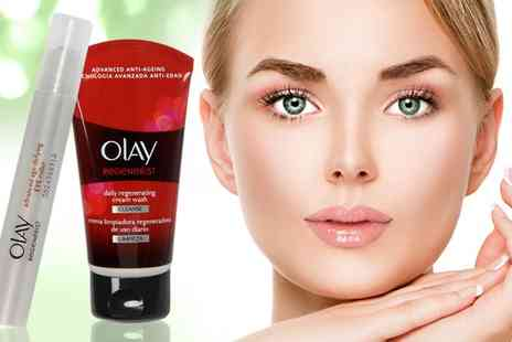 Groupon Goods Global GmbH - Olay Regenerist Eye Roller 5ml With Daily Face Wash - Save 0%