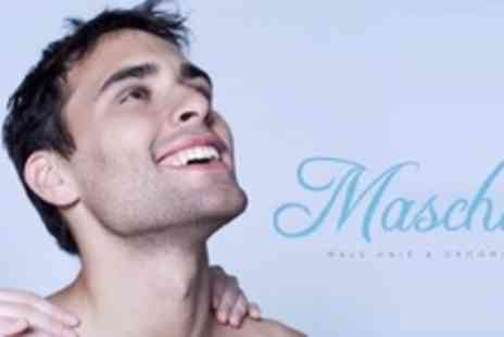 Maschio - One Hour Mens Back, Neck, and Shoulder Massage Plus Indian Head Massage - Save 68%