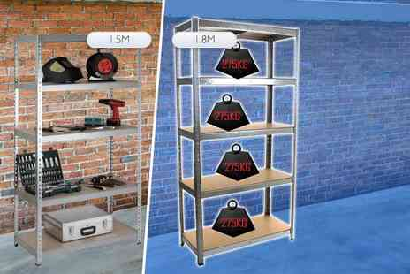 eStore London - A 1.5m metal shelving unit  1.8m - Save 0%