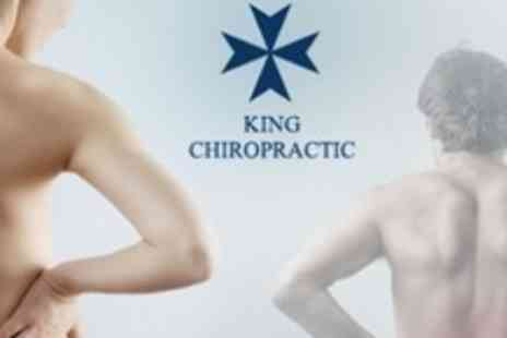 King Chiropractic - Chiropractic Consultation With Spinal Screening and Three Follow Up Sessions - Save 85%