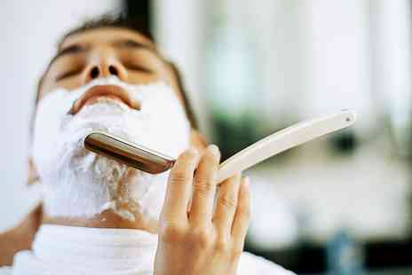 gilroys gentlemans barber - Gents Cut and Finish with Hot Towel Shave - Save 54%