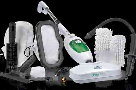 Groupon Goods Global GmbH - Steam Mop System with 12 Accessories or with Pads With Free Delivery - Save 0%