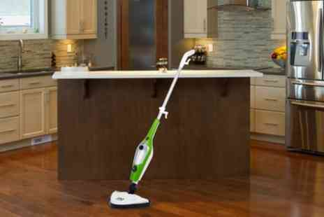 Groupon Goods Global GmbH - Ten In One Steam Mop With Two Pads or Five Pads Include Free Delivery - Save 67%