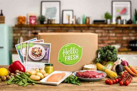 HelloFresh - First and Second Week of Your Recipe Box Subscription for Up to Five People - Save 64%