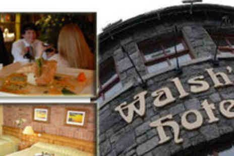 Walshs Hotel - Two Night Break for 2 Guests including Breakfast, a Main Course and Bottle of Wine - Save 50%
