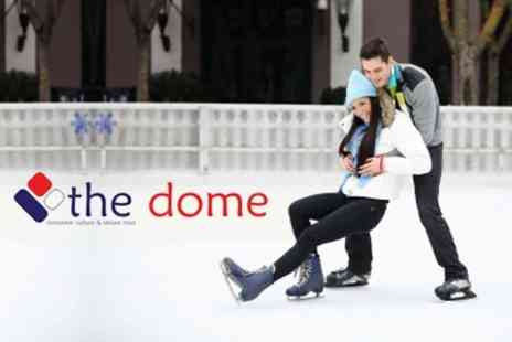 The Dome - Easy Ice Skate Session, Main Meal and Drink for £4 - Save 63%