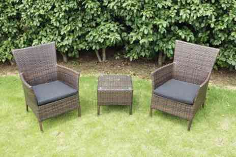 Groupon Goods Global GmbH - Copacabana Rattan Effect Bistro Set With Free Delivery - Save 0%