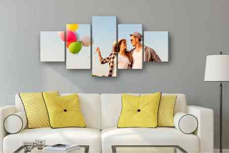 Deco Matters - Personalised five panel canvas - Save 69%