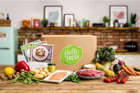 Hello Fresh - Food box subscription with recipes and ingredients for 2 or 4 people - Save 50%