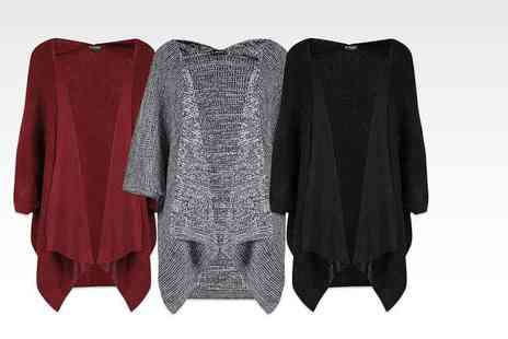 Bejealous - Ladies chunky knit cape style cardigan get cosy for autumn - Save 71%