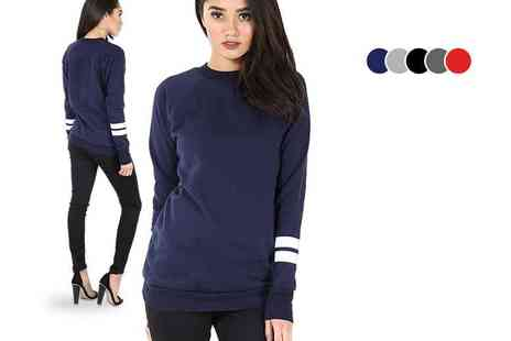 Bejealous - Long sleeved stripe sweatshirt choose from five colours - Save 67%