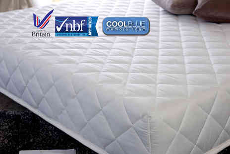Cheap Mattresses - Single, small double or double or king size CoolBlue hybrid memory foam mattress - Save 76%