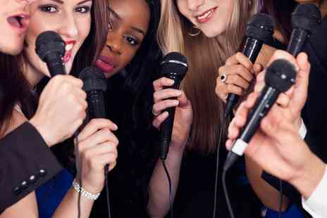 Slam Star Karaoke - Karaoke Party for Six or Twelve with One or Two Cocktail Pitchers - Save 49%