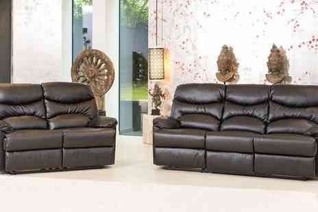 Groupon Goods Global GmbH - Richmond Reclining Chair or 3 Plus 2 Bonded Leather Sofa - Save 72%