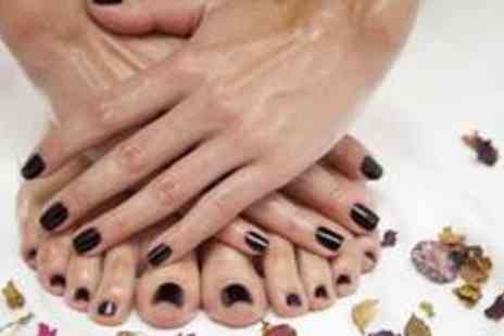 Young Honeys - Shellac manicure and pedicure - Save 66%