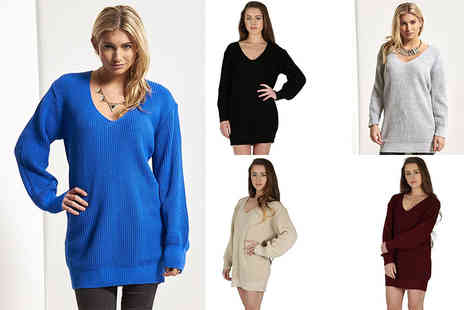 Bejealous - Long length knitted jumper choose from eight colours and four sizes - Save 52%