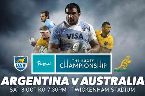 International Sports Investments - The Rugby Championship Category D Ticket to Argentina v Australia at Twickenham on 8 October - Save 0%