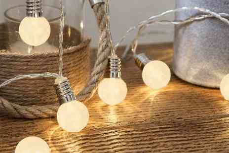 Groupon Goods Global GmbH - 10 Mini Retro Bulb Battery Operated Fairy String Lights - Save 0%