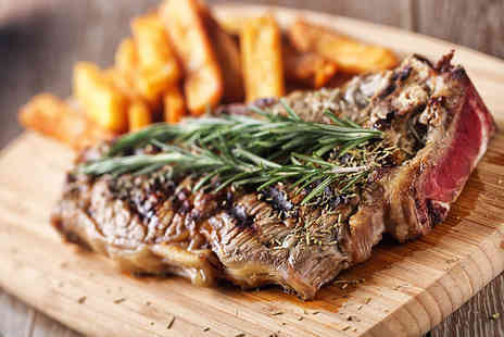 Brasserie 19 - 8oz sirloin steaks for two with a carafe of wine to share - Save 59%