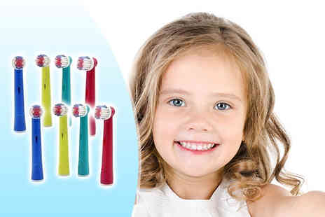 The Pretty Essential Company - Eight kids Oral B compatible electric toothbrush heads - Save 58%