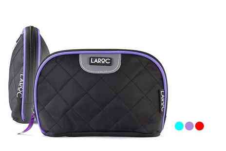 Afrapoco - Quilted makeup bag choose from three colours - Save 75%