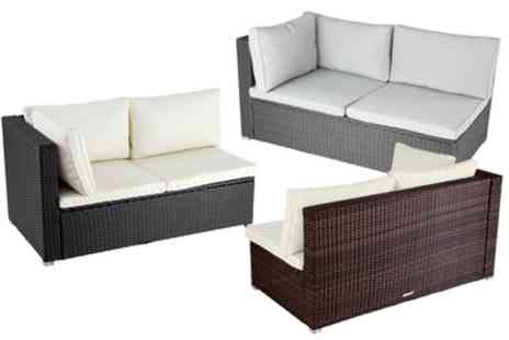 Groupon Goods Global GmbH - Rattan Corner Sofa in Choice of Colour With Free Delivery - Save 0%