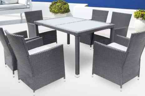 Groupon Goods Global GmbH - 2,4 or 7 Pieces Poly Rattan Dining Sets in Choice of Colours With Free Delivery - Save 0%