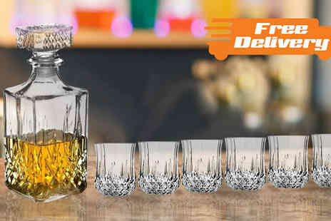 TLD Marketing - Whisky Wine Tumblers and Square Glass Decanter Plus Free Delivery - Save 0%