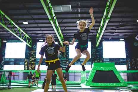 Flip Out Birmingham - One Hour Trampoline Jumping Session with Socks for One or Four - Save 42%