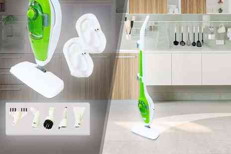 Who Needs Shops - Nine in one steam mop with attachments - Save 76%