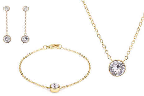 Lily Spencer - 18K Yellow Gold Plated Swarovski Jewellery Set - Save 0%