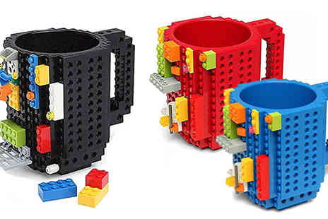 eFindbest - Lego Compatible Build On Brick Mug Three Colours - Save 62%