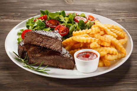 The Blue Eyed Maid - Steak meal with a bottle of wine for two - Save 66%