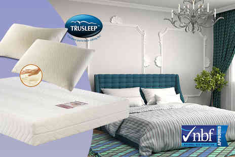 Trusleep - Dreamline single memory foam mattress and pillows - Save 76%