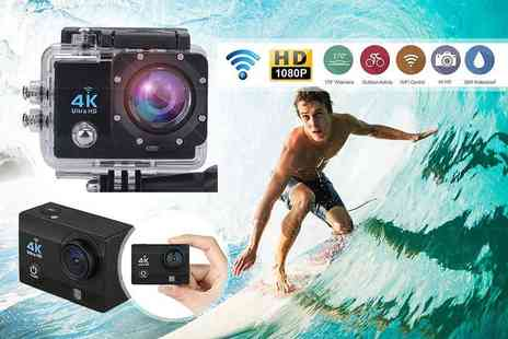 TLD Marketing - 4K 2 Inch ultra HD sports action camera - Save 80%