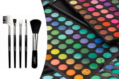 Afrapoco - 120 colour eyeshadow palette and five piece brush set - Save 81%